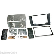 CT23IV01 IVECO DAILY 2007 to 2014 BLACK DOUBLE DIN FASCIA FACIA ADAPTOR KIT