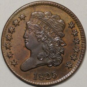 1825 Classic Head Half Cent AU - Better Date!