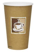16oz lo último Taza de Papel Desechable x 50 Caffe Diseño