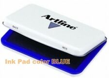 Artline BLUE Ink Pad for Stamp Rubber Number dater day Injected color colour oil