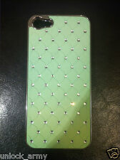 3D Braided Light Green Swarovski Crystal Case Handmade iPhone 5 Hard Cover Case