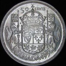 1956 AU Canada Silver 50 Cents (Fifty, Half) - KM# 53 - JG