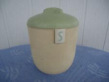 vintage art deco duperite bakelite kitchen canister sugar cream & green