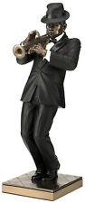 Trumpet Player Statue Sculpture Black Suit Figurine - Jazz Band Collection Gift