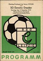 OL 79/80 BSG Chemie Leipzig - SG Dynamo Dresden, 09.12.1979