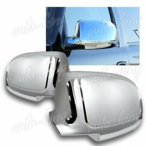 CHROME ABS SIDE VIEW MIRROR COVERS CAP KIT FIT 99-06 GMC SIERRA 1500 2500 3500
