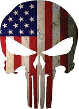 Punisher with American Flag vintage sticker / decal