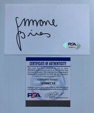 Olympic Gold Medalist Simone Biles Signed Autograph 3x5 Index Card PSA FREE S&H