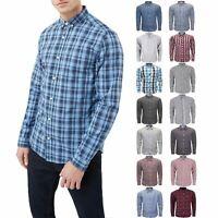 New Mens Ex-Store Shirt Long Sleeve Check 100% Cotton Summer Holiday Beach