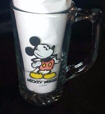 Disney Mickey Mouse Clear Glass Handled Mug