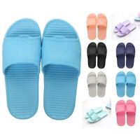 Indoor Shower Bath Slippers Women Men Non-Slip Home Bathroom Sandals Flat Shoes