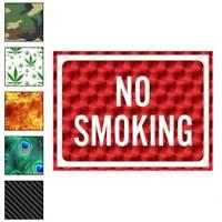 No Smoking Business Sign Decal Sticker Choose Pattern + Size #4009