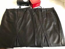 NWT RAG & BONE Tampa Leather Skirt -BLACK - SIZE 4, 6 $895