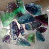 Good Natural Fluorite Quartz Crystal Stones Rough Polished Gravel Specimen
