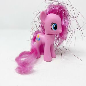 My Little Pony G4 Pinkie Pie 2010 Pink Tinsel Hair Brush-able Single FiM