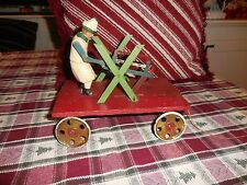 "Vintage Early 1920's German Made Pull Toy Working Condition 8 1/8"" Long"