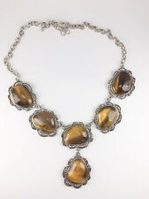 Beautiful Tiger's Eye Statement Necklace