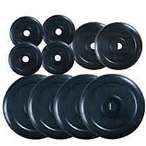 Protoner Spare 20 Kgweight Lifting Plates 8 X 2 Kg & 4 X 1 Kg  Rubber