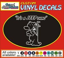 "8"" It's a Jeep Thing Popeye Dog Funny Cartoon Truck window vinyl sticker decal"