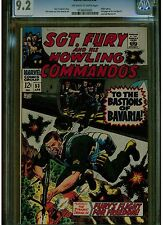 SGT. FURY AND HIS HOWLING COMMANDOS #53 CGC 9.2 FULL AD SUBMARINER & IRON MAN #1