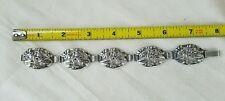 Vintage Sterling Bracelet Danecraft Felch Floral Panel Bracelet