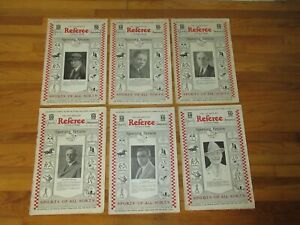 1926 Vintage Los Angeles REFEREE SPORTS/BOXING MAGAZINES (Lot Of 6) RARE