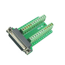 DB25 Female 25Pin Plug Breakout PCB Board Terminals D-SUB Connector NEW