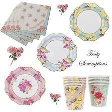 VINTAGE TEA PARTY COMPLEANNO Bundle Chintz Shabby Chic Floreale Piatti Tazze Tovaglioli