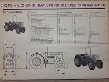 Original Eicher Prospekt Traktor 3709 3710 A