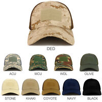 Hook and Loop Patch Flex Fitting Tactical Air Mesh Back Cap - FREE SHIPPING