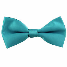 New KID'S BOY'S 100% Polyester Pre-tied Bow tie only aqua blue formal wedding