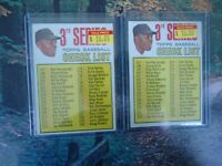 1967 TOPPS CHECK LIST LOT #191  DICK KELLEY AND TOM KELLEY FOR #21 WILLIE MAYS