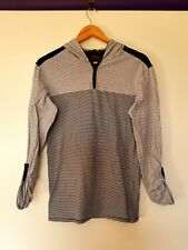 Ben sherman womens size S black white striped long sleeve button cuff hoodie