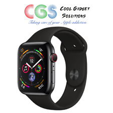 Apple Watch Series 4 44mm Space Black Stainless Steel, Sport Band Cellular A2008