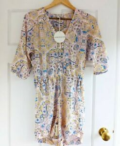Cartel and willow Size Small Jumpsuit Playsuit Bnwt New Paisley pastel 8 10