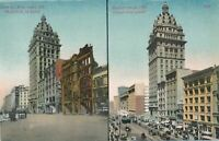 SAN FRANCISCO CA - Market Street At Third After the 1906 Fire and in 1909