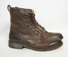 FRYE Wingtip Distressed Brown Leather Wingtip Oxford Dress James Boots Women 9.5