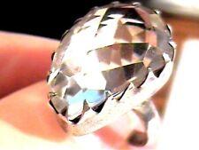 Sterling silver 925 natural white topaz SZ 5.5 jewelry artisanal BOLD ELEGANT