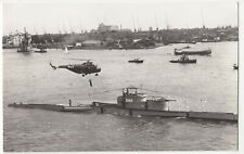 "Shipping; Dutch S55 Helicopter Cleopatra & Submarine ""Tijgerhaai"" S812 RP PPC"
