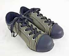 Revolution Split Sole Canvas Dance Shoes Sneakers Black Gray Child Youth Size 4