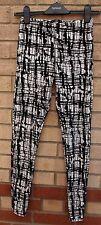 Miso Blanco Negro Terciopelo Leggings Impresión abstracto Calce Ajustado Pantalones Pantalones 8
