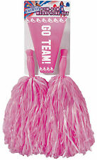 Pink Pom Pom and Megaphone Set Cheerleader Pom Poms Costume Accessory