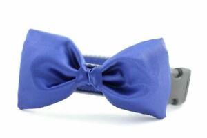 Royal Blue Satin Bow Tie Dog Collar