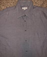 Giorgio Armani Le Collezioni Mens Button Down Long Sleeve Shirt Gray Size 16 33