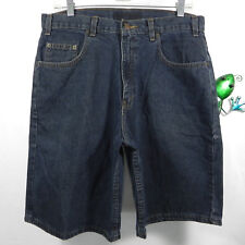 Arizona Jeans Mens Jean Shorts 100% Cotton Loose Fit Blue Denim 33 Waist