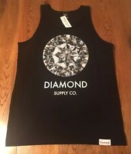 Diamond Supply Co. Black Diamond 100% Cotton Tank Top Men's S Small NWT! $29.95
