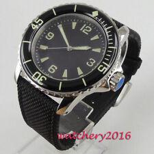 45mm Corgeut Black sterile dial Super LUME Miyota Automatic Movement men's Watch