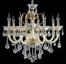 Clear 8 Arms Candle Crystal Chandelier Indoor Light Pendant Light Wall Fixture