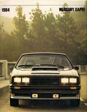 MERCURY CAPRI 1984 Stati Uniti del mercato delle vendite BROCHURE GS RS TURBO