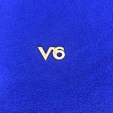 1997 - 2001 TOYOTA CAMRY DECK LID / TRUNK LID REAR GOLD V6 EMBLEM OEM 97-01